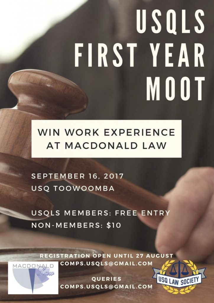 2017 USQLS First Year Moot Poster